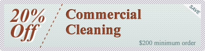 Cleaning Coupons | 20% off commercial cleaning | Rug Cleaning Manhattan