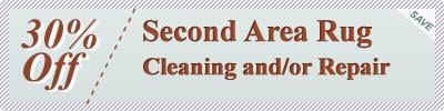 Cleaning Coupons | 30% off second rug cleaning or repair | Rug Cleaning Manhattan